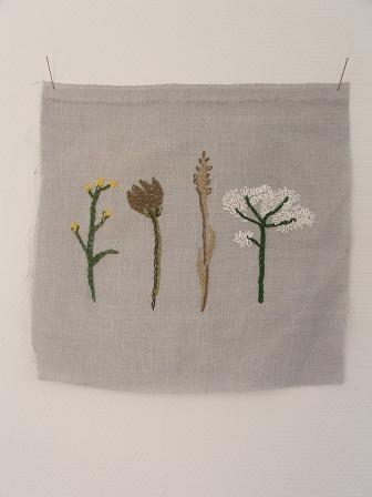 Weeds embroidery