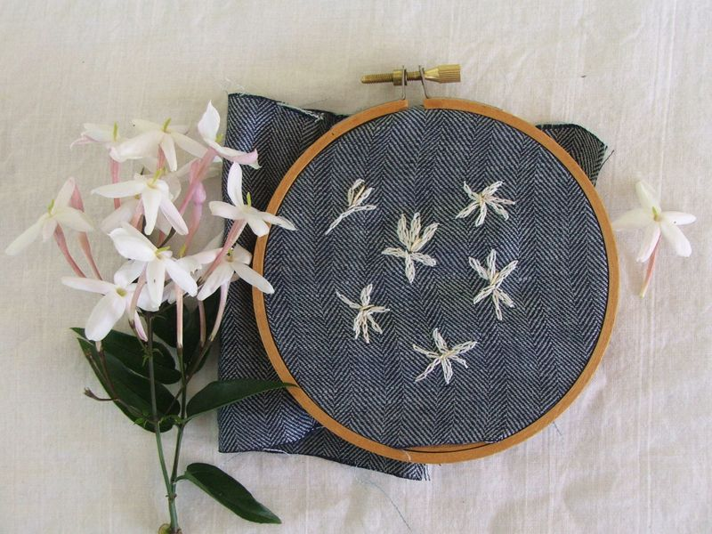 Jasmine embroidery
