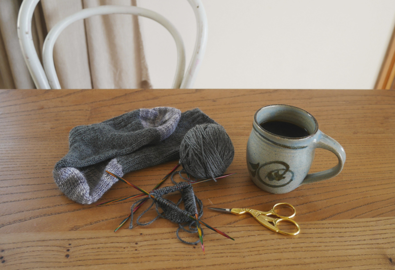 July knitting