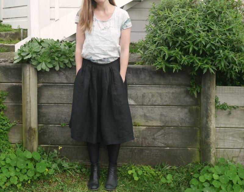 Linen skirt 1
