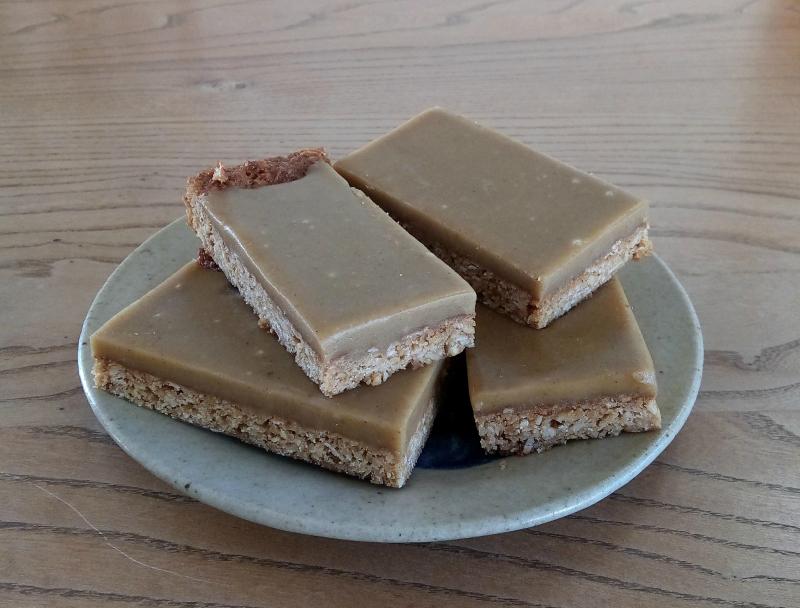 Ginger oat slice