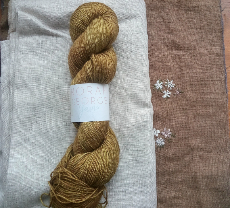 Mustard seed yarn