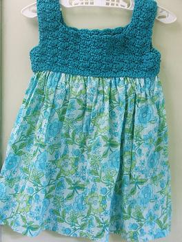 PATTERN FOR DRESS WITH CROCHET BODICE